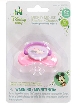 """Baby Minnie"" Pacifier by Disney in Pink, Infants"