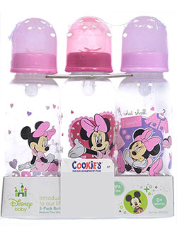 3-Pack Bottles Set by Disney in Pink