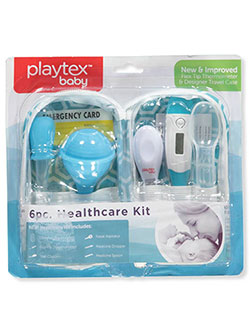6-Piece Healthcare Kit by Playtex in blue and pink, Infants