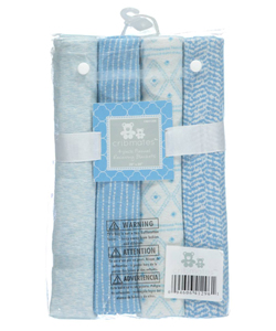 "Cribmates Baby Boys' ""Sweet Sleep"" 4-Pack Receiving Blankets - CookiesKids.com"