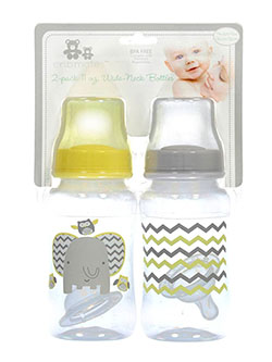 2-Pack Wide-Neck Bottles by Cribmates in Yellow