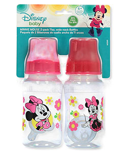Minnie Mouse 2-Pack Wide-neck Bottles by Disney in Fuchsia, Infants