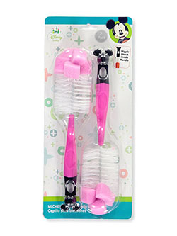 2-Pack Bottle Brushes by Disney in blue and pink