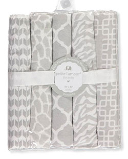 5-Pack Flannel Receiving Blankets by Petite L'amour in Ivory