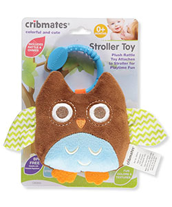 Plush Stroller Toy by Cribmates in brown multi and fuchsia/multi - $7.00
