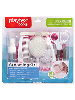 12-Piece Grooming Kit by Playtex in pink and turquoise, Infants