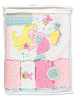 Baby Girls' 5-Piece Bath Set by Petite L'amour in Pink/white - $10.99