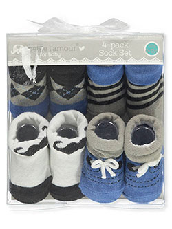 Baby Boys' 4-Pack Socks by Petite L'amour in Blue/multi