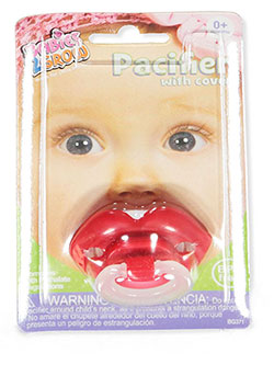 Pacifier with Cover by Babies 2 Grow in Red, Infants