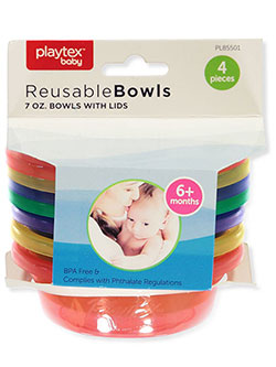 4-Piece Reusable Bowls with Lids by Playtex in Multi