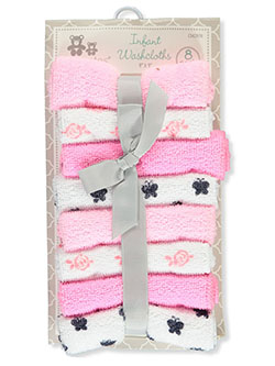Baby Girls' 8-Pack Washcloths by Cribmates in Pink/multi