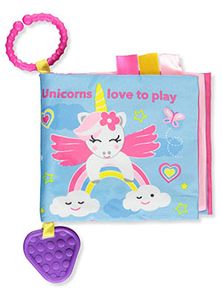 Baby Girls' Unicorn Book and Teether by Playtex in Pink