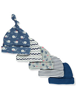Baby Boys' 5-Pack Caps by Cribmates in Navy/multi