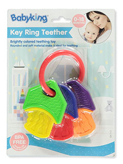 Key Ring Teether by Babyking in Multi