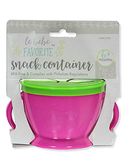 Favorite Snack Container by Le Bebe in fuchsia/green and green/aqua