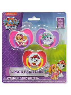 3-Pack Pacifiers With Covers by Paw Patrol in pink/multi and royal/multi, Infants