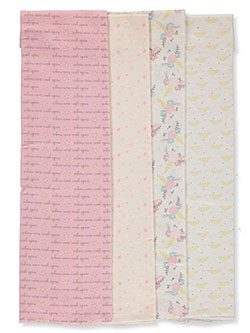 4-pack Flannel Receiving blankets by Cribmates in Pink, Infants