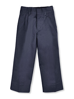 Little Boys' Pleated Pants in gray and navy