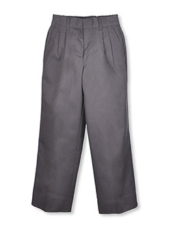 Big Boys' Pleated Pants in gray and navy