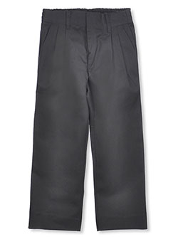 Big Boys' Pleated Pants with Elastic Waist by Rifle in black, gray, green, khaki and navy