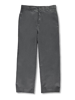 Big Boys' Husky Flat Front Pants by Rifle in gray and navy