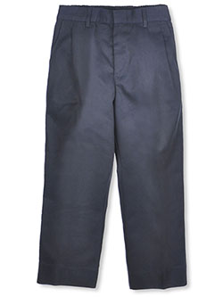 Big Boys' Husky Pleated Pants by Rifle in Navy