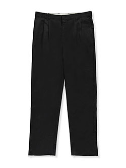 Boys Welt Pocket Pleated Pants by Rifle in black, khaki and navy, School Uniforms
