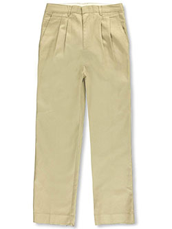 Big Boys' Husky Basic Pleated Pants by Rifle in Khaki