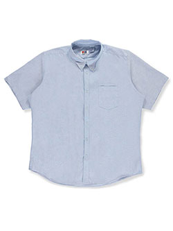 Adult Unisex S/S Nexpander Button-Down Shirt by Rifle/Kaynee in blue, white and yellow - $28.00