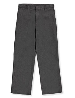 Big Boys' Husky Flat Front Pants by Rifle/Kaynee in Gray