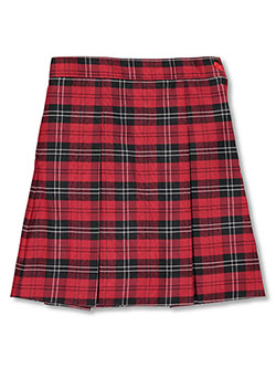 Little Girls' Box Pleated Skirt by Rifle/Kaynee in Plaid #70, Sizes 2-6X