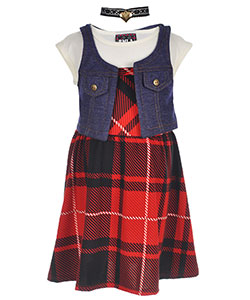 "RMLA Little Girls' ""Casual Glam"" 3-Piece Outfit with Choker (Sizes 4 – 6X) - CookiesKids.com"