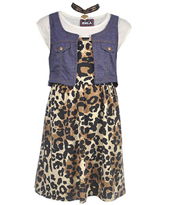 "RMLA Big Girls' ""Casual Glam"" 3-Piece Outfit with Choker (Sizes 7 – 16) - CookiesKids.com"