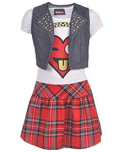 "RMLA Big Girls' ""Emoji Rock"" 2-Piece Outfit (Sizes 7 – 16) - CookiesKids.com"