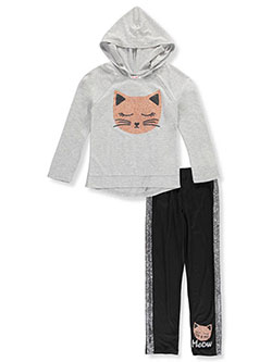 Girls' 2-Piece Leggings Set Outfit by RMLA in Heather gray