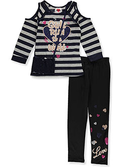 Girls' 2-Piece Leggings Set Outfit with Purse by RMLA in Navy