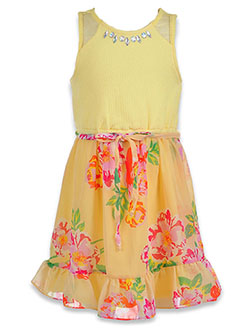 Girls' Floral Jewel Dress by RMLA in Yellow