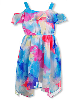 Girls' All Around Flounce Floral Dress by RMLA in Jade