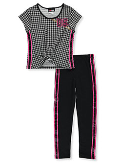 Houndstooth 05 2-Piece Pants Set Outfit by #GIRLSQUAD in Gray