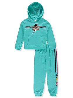 Girls' Active Mode 2-Piece Sweatsuit Outfit by RMLA in Jade green