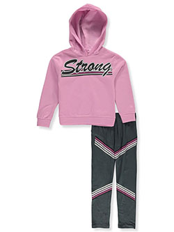Strong Stripe 2-Piece Leggings Set Outfit by RMLA in Mauve