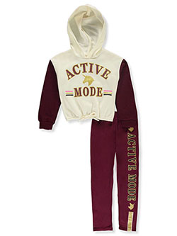 Active Mode 2-Piece Leggings Set Outfit by RMLA in Burgundy