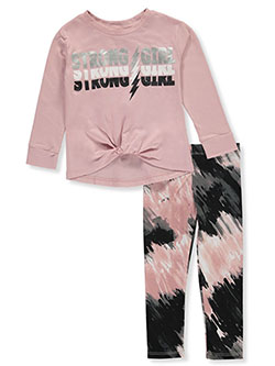 Strong Girl 2-Piece Leggings Set Outfit by RMLA in Mauve