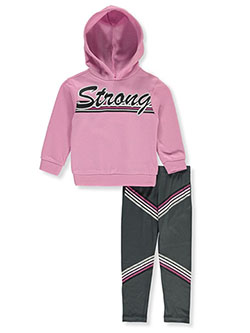 Strong Stripe 2-Piece Legging Set Outfit by RMLA in Mauve