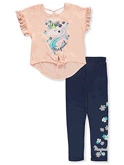 Girls' Magical 2-Piece Leggings Set Outfit by RMLA in Coral
