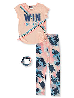 Win Together 3-Piece Leggings Set Outfit by #GIRLSQUAD in Blush