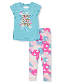 You Got This 2-Piece Leggings Set Outfit by #GIRLSQUAD in Aqua