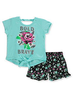 Bold And Brave 2-Piece Shorts Set Outfit by RMLA in Mint, Girls Fashion