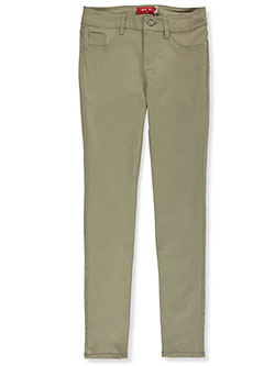 Mid Rise Stretch Skinny Jeggings by Boyle Heights Supply Company in khaki and navy