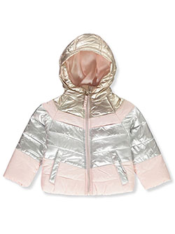 Metallic Panel Insulated Jacket by Le Petit Rothschild in Silver, Infants